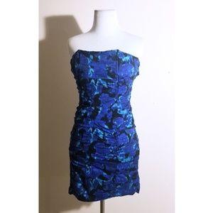 BB Dakota Blue & Black Floral Mini Dress